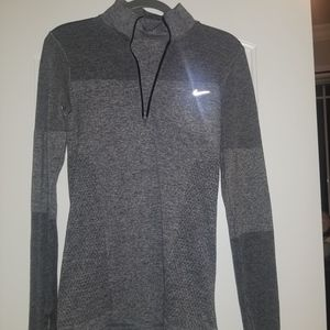 nike fitted tunic neck quarter zip